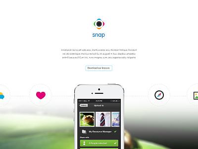 snap responsive technology education webdesign navigation web layout clean ui flat webpage website