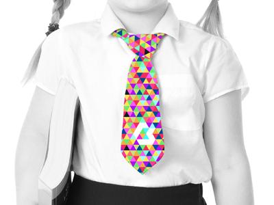 School Tie branding logo colour flat vector education school primary triangle mockup tie brand