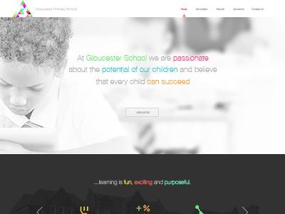 Landing Page landing page ui responsive web design flat website homepage education
