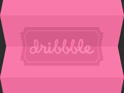 dribbble dribbble invitation free invite givaway flat fold