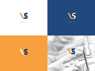 VS (WIP) logo mark software brand branding technology ribbon typography vector