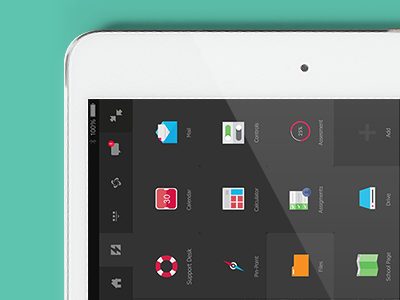 Quick Launch ui flat app icons glyphs vector design ios ipad mockup
