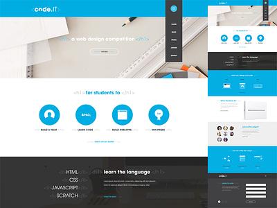 code.IT - Landing Page flat illustration ui webpage landing page website web design register vector code design