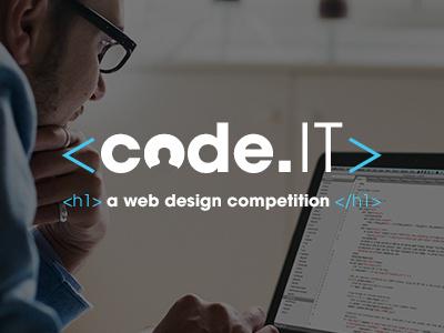 code.IT vector typography silhouette code branding brand software mark logo education