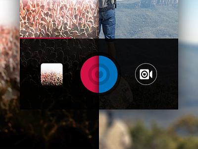 SNAP design flat snap ios video camera glyph icon app mobile ux ui