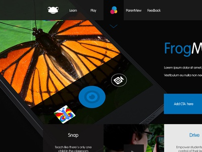 FrogEducation.com WIP (Product Page) ui design website landing page web design webpage flat mobile education app navigation layout
