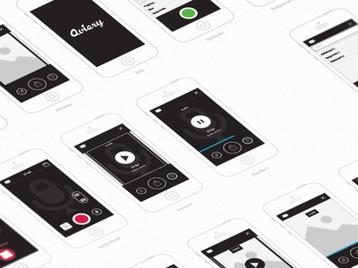 WIRES iphone app mobile wireframe ui ux mockup ios camera video audio