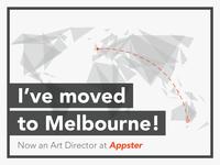 I've moved to Melbourne