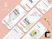 Kite wins Gold at the Davey Design Awards! iphone x mindfulness award winning award ux design ui design app design app minimal clean ux ui design