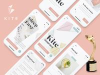 Kite wins Gold at the Davey Design Awards! iphone x mindfulness award winning award ux design ui design app design app minimal clean ux ui design