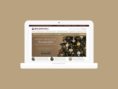 E-commerce Design for Balsam Hill internet retailer ecommerce luxury christmas artificial christmas trees