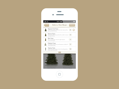 Mobile E-commerce Design for Balsam Hill christmas trees ecommerce mobile