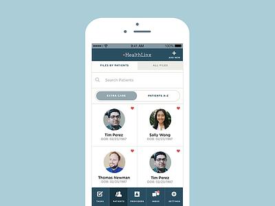 Healtlinx  app mobile collaboration productivity health product healthcare