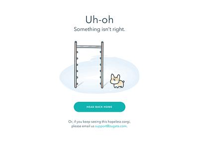 Error Page cute illustration sketch error page corgi