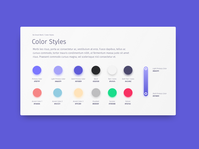 Sunday afternoon project design tools style sheet side project tools color sketch
