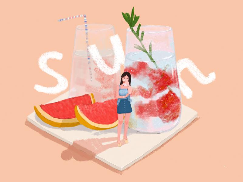 Cool summer 设计 插图