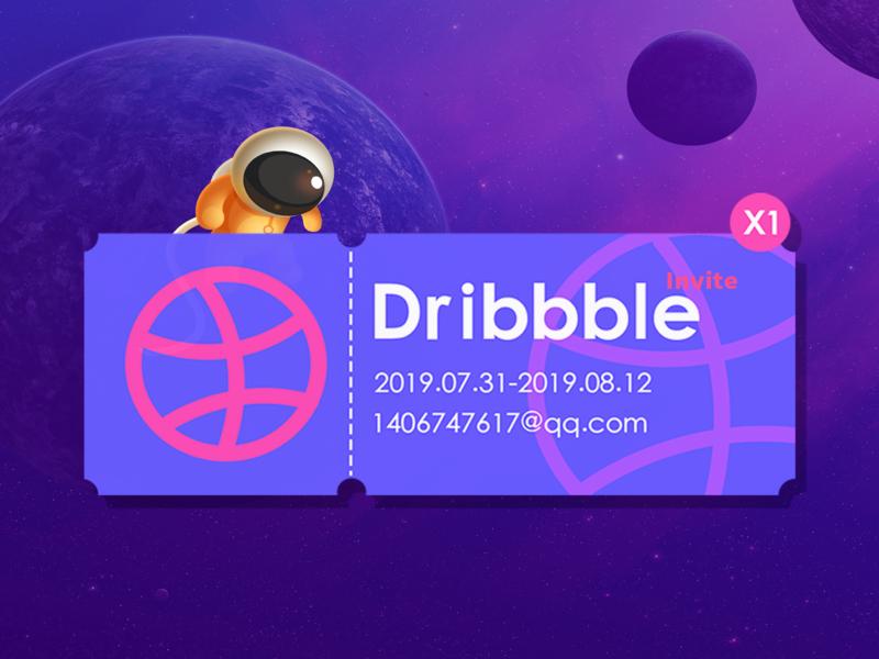 Dribbble invited  x1 invited 设计