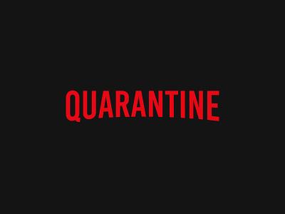 Quarantine branding logo design flat design