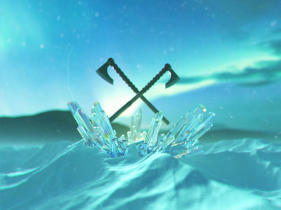 Northern Crystals crypto nft cinema4d redshift 3d animation 3d motion graphics loop animation