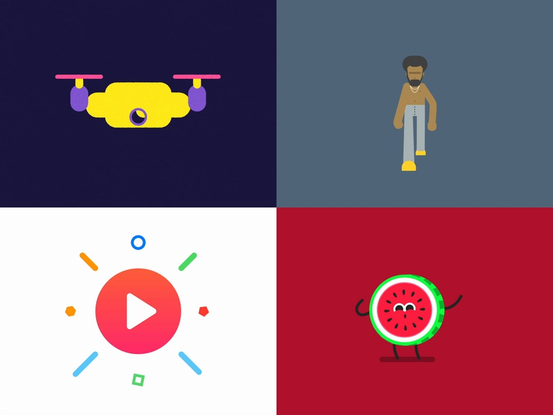 2018 was good to me. For another one! dancing food ux design vector character gif barcelona after effects illustration icon ui motion graphics loop character animation character design flat design flat animation