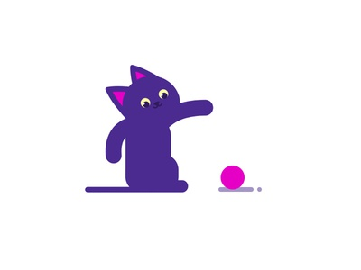 Cat vector barcelona design illustration ui character design flat design flat