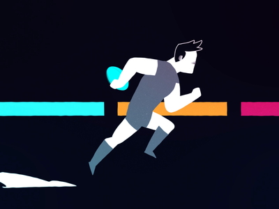 Rugby player sports rugby character vector gif after effects barcelona illustration motion graphics loop character animation character design flat design flat animation