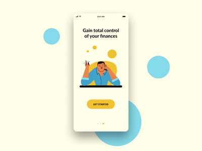 An onboarding illustration for a fintech app design barcelona illustration ui character design flat flat design
