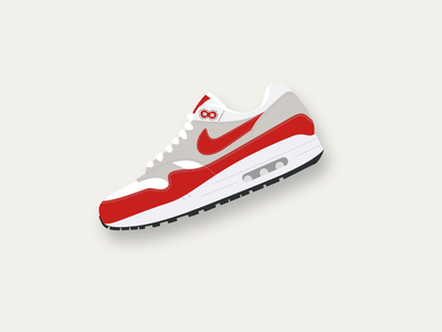 Air Max 1 air max 1 shoes sneakers kicks sneaker vector design barcelona illustration ui flat design flat