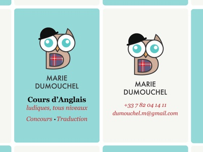 Business cards for private english teacher by etienne pigeyre dribbble business cards for private english teacher reheart Gallery