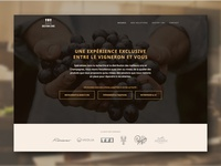 Close up - UI design for a French wine supplier
