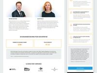 UX & UI design for a language training company
