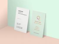 Business card - sport center & restaurant concept