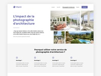 Work in progress - Web design for an architectural photographer