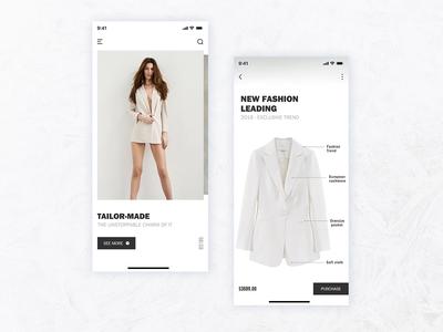 Shopping App Interface