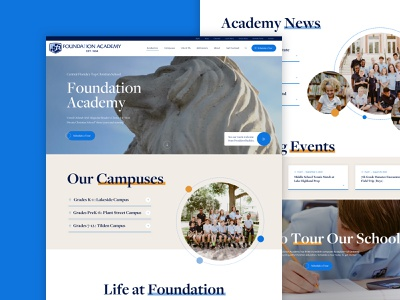 Foundation Academy school home page education website education private school school school website
