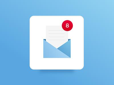 Mail App Icon 2 dailyui mail app mail icon icon design app icon app design