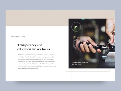 Coffee Website: Interior Section