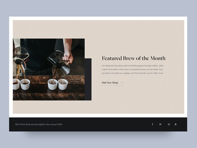 Coffee Website: Interior Section 2 website web design ui restaurant home page coffee website coffee