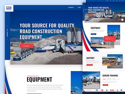 Gencor Website gravel construction website website road construction