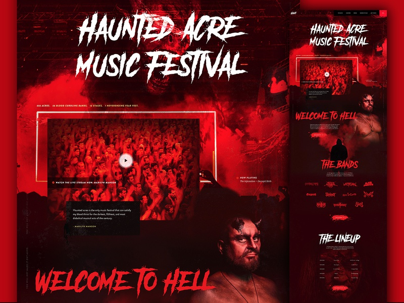 Haunted Acres Music Festival metal bands dark ui fear scary music festival halloween mocktober