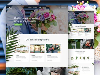 Alpha Fern greenery flowers floral shop floral bouquet wedding wreath ecommerce ui design