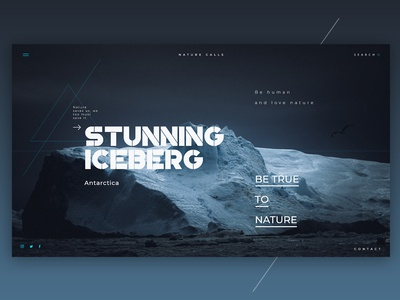 Nature Header - Iceberg