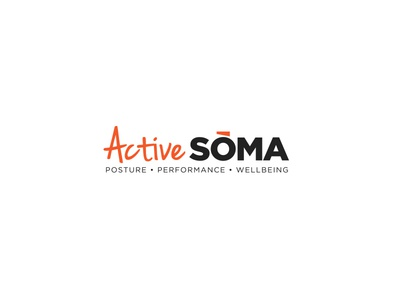 Active Soma active soma fit health yoga performance wellbeing posture fitness logo