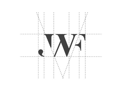 JWF Group - Logo Proposal jwf mark branding initials logo blackwhite monogram