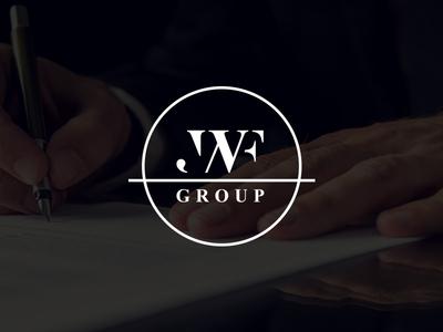JWF Group management business consulting symbol monogram blackwhite logo initials branding mark jwf