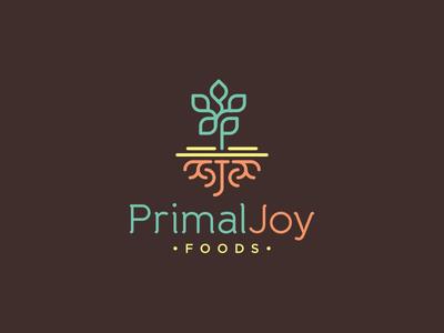 Primal Joy Foods wellbeing root leaf clean organic lifestyle handmade natural logo health food