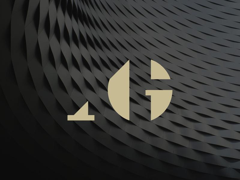 'Andrei Gelmarea' Branding creative construction expertise consulting logo design design brand identity architect clean symbol initials branding mark monogram logo