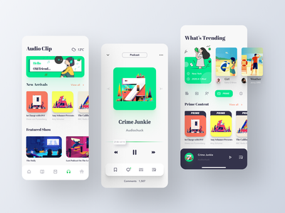 Library App Design-Podcast player card interface audio player audio app card player ui player illustration podcasts podcast mobile app application ui ux design 2020