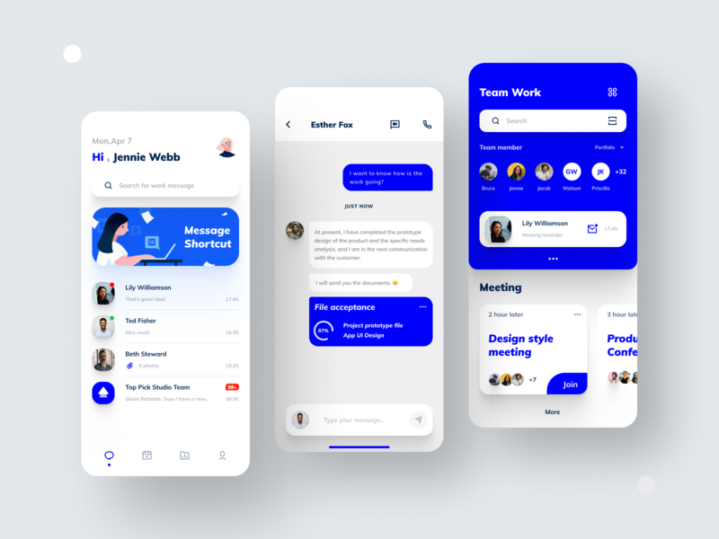 Remote work App Design