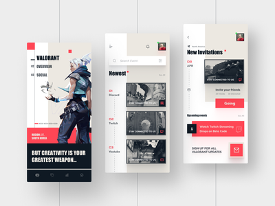 Valorant App Design material material design android mobile design mobile ui riot games riot game figma mobile application clean app icon 2020 ui ux design